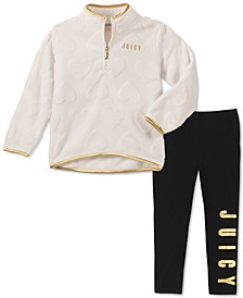 Little Girls 2-Pc. Fleece Sweatshirt & Leggings Set
