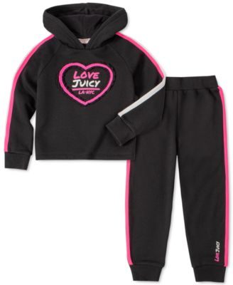 Hooded Vest and Pant Set DKNY Girls 3 Piece Heart T-Shirt