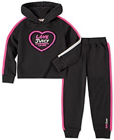 Little Girls 2-Pc. Striped Hoodie & Jogger Pants Set