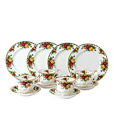 Old Country Roses 12-Piece Tea Entertaining Set, Created for Macy's
