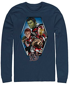 Men's Avengers Endgame Geometric Group, Long Sleeve T-shirt