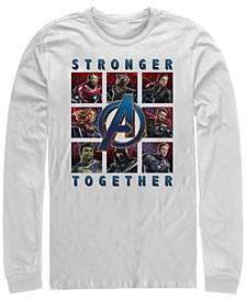 Men's Avengers Endgame Stronger Together Boxes, Long Sleeve T-shirt