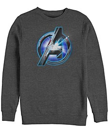 Men's Avengers Endgame Light Flare Chest Logo, Crewneck Fleece