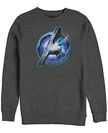 Marvel Men's Avengers Endgame Light Flare Chest Logo, Crewneck Fleece