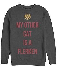 Men's Captain Marvel My Cat is a Flerken, Crewneck Fleece