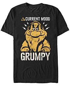 Men's Snow White Grumpy Dwarf Current Mood, Short Sleeve T-Shirt