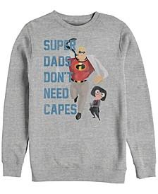 Pixar Men's Incredibles Super Dads No Capes, Crewneck Fleece