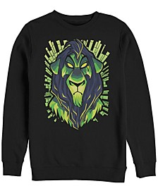 Men's Lion King Scar Evil Geometric, Crewneck Fleece