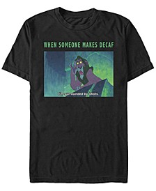 Men's Lion King Scar Funny Coffee Meme, Short Sleeve T-Shirt