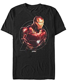 Men's Avengers Endgame Iron Man Portrait, Short Sleeve T-shirt