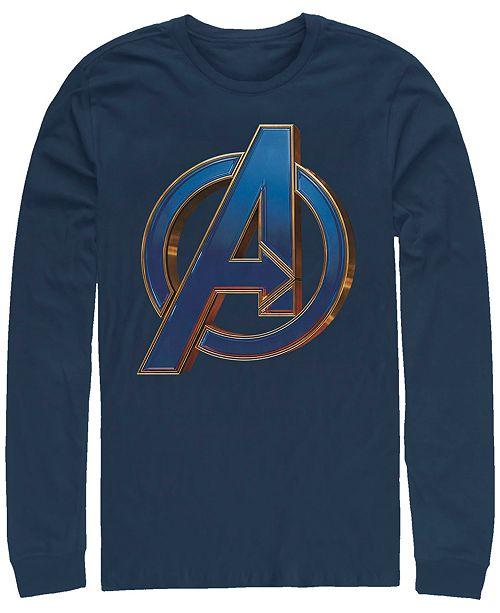 Marvel Men's Avengers Endgame Classic Logo, Long Sleeve T-shirt