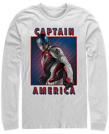 Men's Avengers Endgame Captain America Portrait, Long Sleeve T-shirt