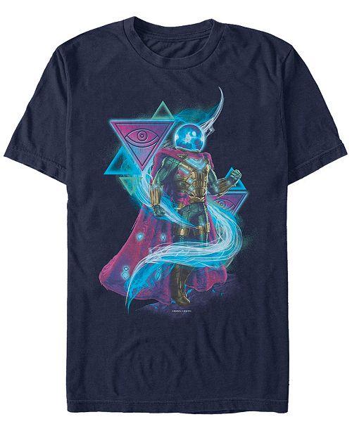 Marvel Men's Spider-Man Far From Home Mysterio Abstract Symbols, Short Sleeve T-shirt