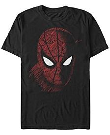 Men's Spider Man Far From Home Tech Big Face, Short Sleeve T-shirt