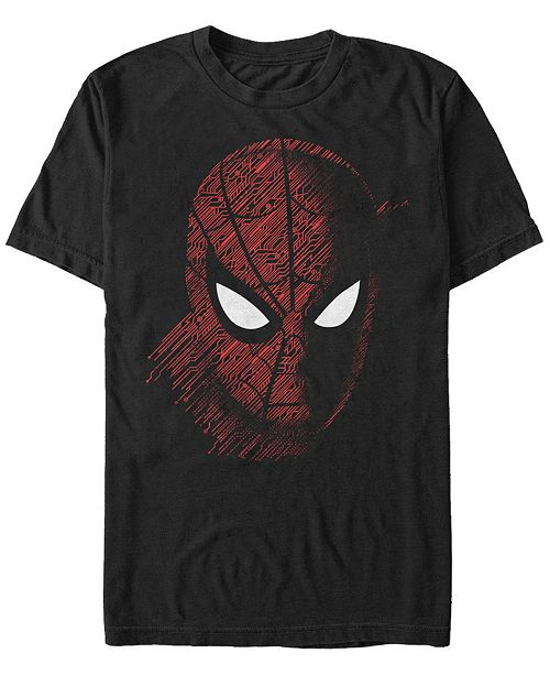 Marvel Men's Spider Man Far From Home Tech Big Face, Short Sleeve T-shirt