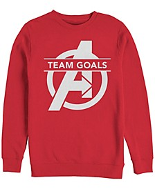 Men's Avengers Endgame Chest Logo Team Goals, Crewneck Fleece
