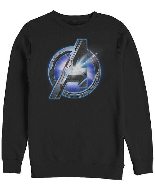 Marvel Men's Avengers Endgame Sunshine Logo, Crewneck Fleece
