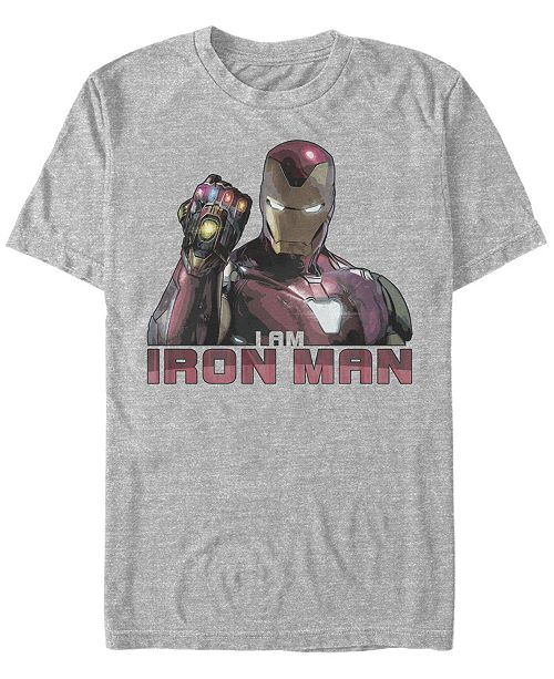 Marvel Men's Avengers Endgame I Am Iron Man Gauntlet, Short Sleeve T-shirt