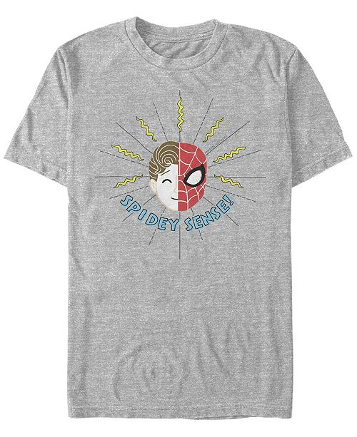Marvel Men's Spider-Man Far From Home Spidey Sense Face Off, Short Sleeve T-shirt