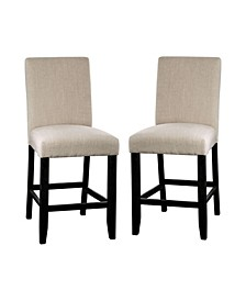 "Robley 25"" Upholstered Counter Chair (Set of 2)"