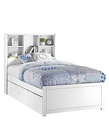 Furniture Caspian Twin Bookcase Bed with Trundle Unit