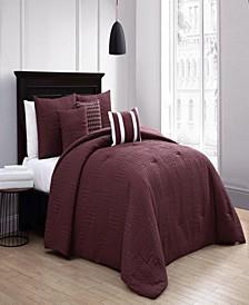 Yardley 8-Piece Embossed Twin Bedding Set