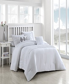 Navier 6-Piece Ruched Queen Bedding Set