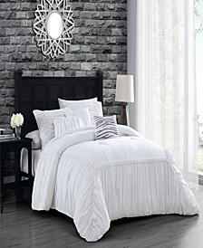 Zurich Elastic Hotel 6pc King Size Comforter Set with Throw Pillows