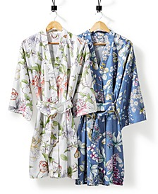 English Garden Cotton 300-Thread Count Robe, Created for Macy's