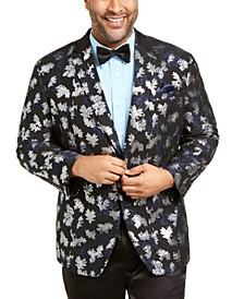 INC Men's Big and Tall Slim-Fit Metallic Jacquard Blazer, Created For Macy's