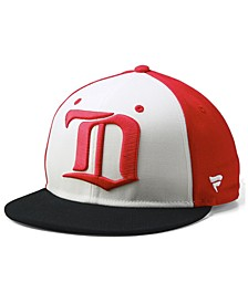 Detroit Red Wings Tri-Color Throwback Snapback Cap