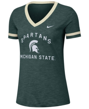 Nike Women's Michigan State Spartans Slub Fan V-Neck T-Shirt
