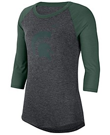 Women's Michigan State Spartans Logo Raglan T-Shirt