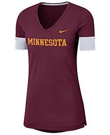 Women's Minnesota Golden Gophers Fan V-Neck T-Shirt
