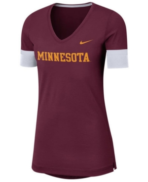 Nike Women's Minnesota Golden Gophers Fan V-Neck T-Shirt