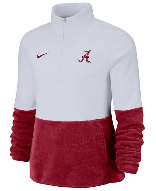 Nike Women's Alabama Crimson Tide Therma Long Sleeve Quarter-Zip Pullover