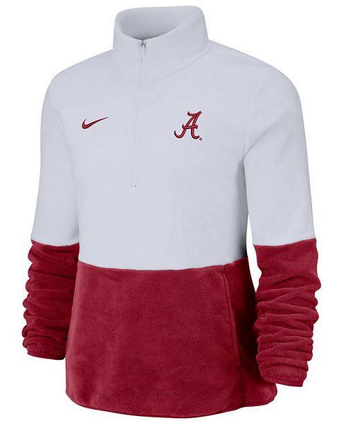 Nike Women's Alabama Crimson Tide Therma Long Sleeve Quarter-Zip Pullover