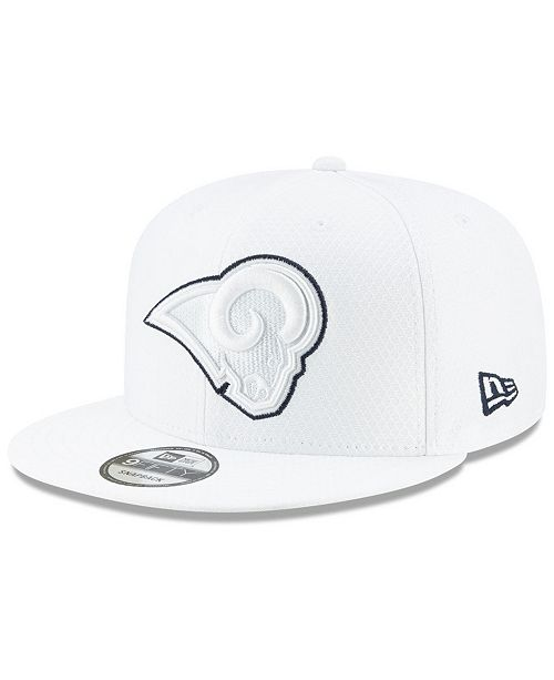 New Era Los Angeles Rams On-Field Platinum 9FIFTY Snapback Cap