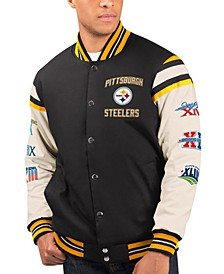 Men's Pittsburgh Steelers Victory Formation Commemorative Varsity Jacket