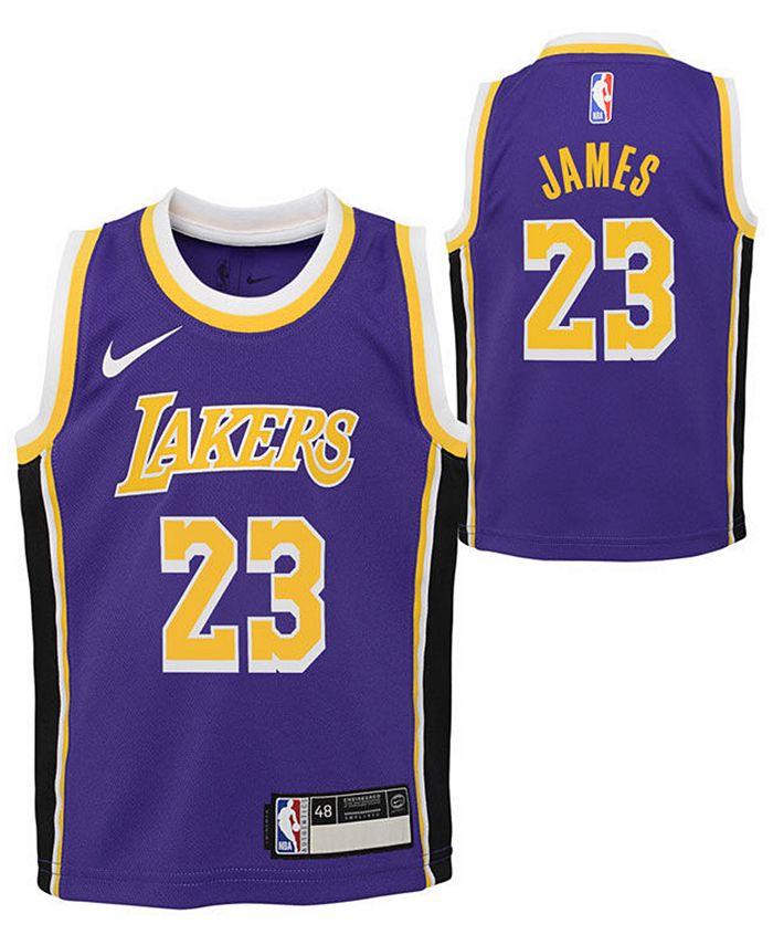 Nike Toddlers LeBron James Los Angeles Lakers Statement Swingman ...