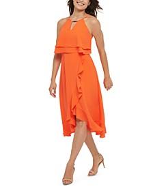 Ruffled Popover Dress