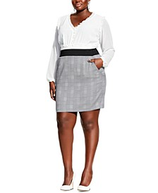 Trendy Plus Size Plaid Pencil Skirt