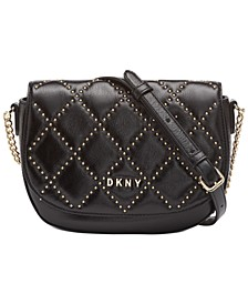 Sofia Leather Stud Saddle Bag, Created For Macy's