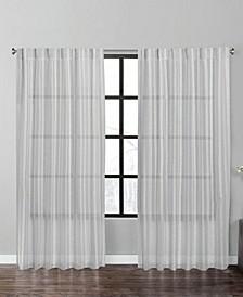 "Fil Coupe Stripe 84"" Window Panel Pair"
