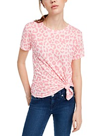Juniors' Leopard-Print T-Shirt