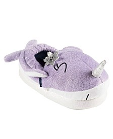 Little and Toddler Girls Lighted Narwhal Slippers