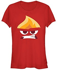 Disney Pixar Women's Inside Out Angry Face Halloween Short Sleeve Tee Shirt