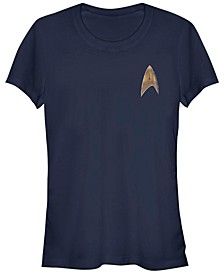 Star Trek Women's Discovery Delta Command Badge Short Sleeve Tee Shirt