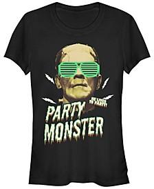 Universal Monsters Women's Frankenstein Party Monster Short Sleeve Tee Shirt
