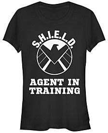 Marvel Women's S.H.I.E.L.D. Agent in Training Eagle Academy Short Sleeve Tee Shirt